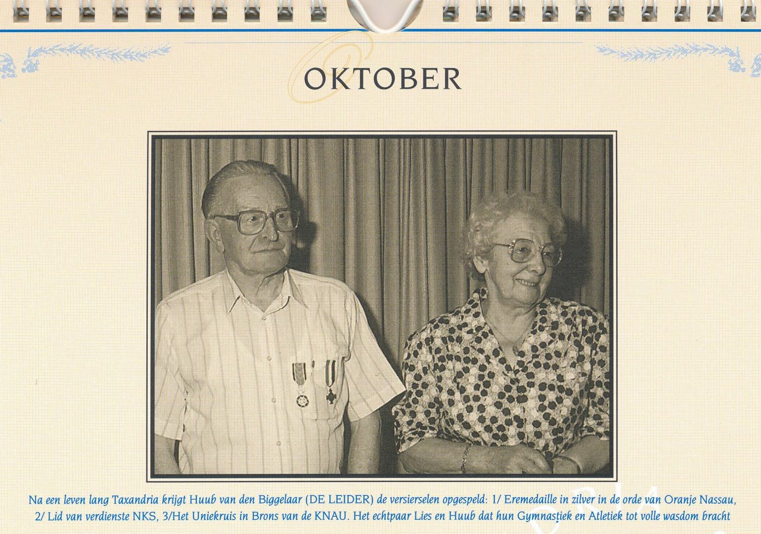 Kalender oktober 1994