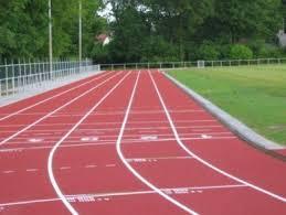 De atletiekbaan